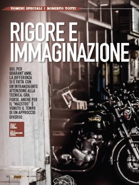 FERRO MAGAZINE - Roberto Totti Aria nuova nell'antro del maestro (Nov. 2015)