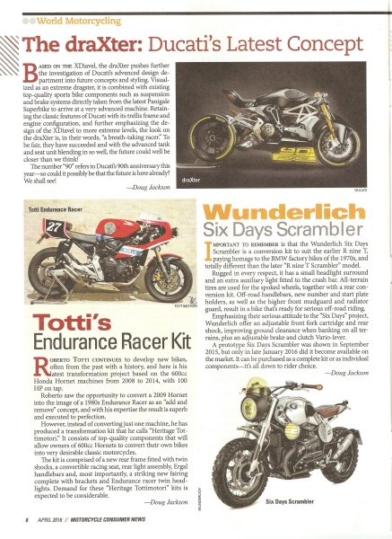Motorcycle Consumer News USA - April 2016