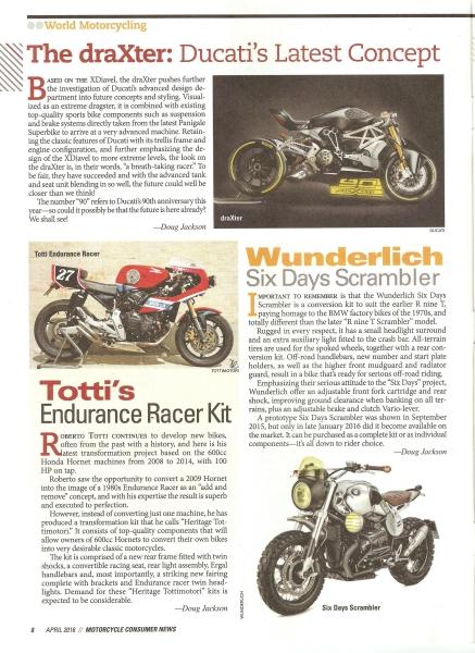 Motorcycle Consumer News USA - April 2016
